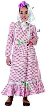 Cisne 2013, S.L. Disfraz de 2 Piezas para Carnaval Infantil niña de Chulapa Madrileña Color Rojo y Blanco Talla 3/4 años de niño y niña. Cosplay niña Carnaval.: Amazon.es: Hogar