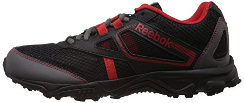 245c683211df52 Reebok Men s Black and Red Polyester Trekking and Hiking Footwear Shoes -  11 UK  Buy Online at Low Prices in India - Amazon.in