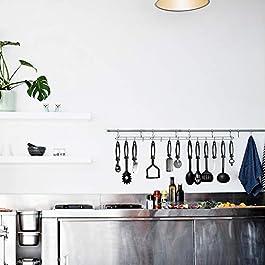 24-Piece Nylon Cooking Utensils Kitchen Utensil set – Nylon Kitchen Utensils Set Best Kitchen Tools(BPA Free NON Toxic-24pcs Black)