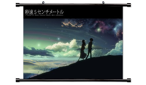 5 Centimeters per Second Anime Fabric Wall Scroll Poster  In