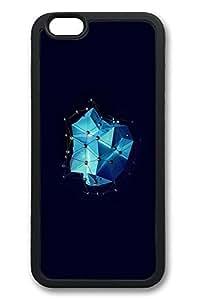 6 Plus Case, iPhone 6 Plus Case Dark Blue Multigons Cg Illustration Fun TPU Silicone Gel Back Cover Skin Soft Bumper Case Cover for Apple iPhone 6 PlusMaris's Diary