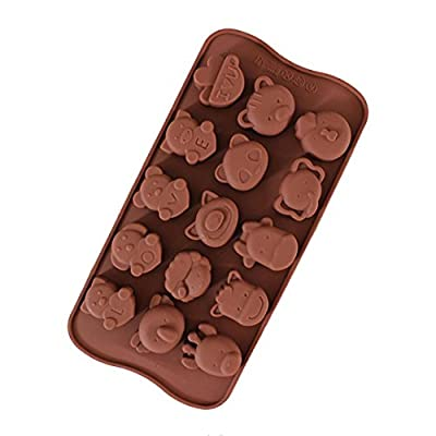 Cake Mould 15 Holes Fun Taste Animal Biscuit Chocolate Cookie Candy Cutter Wedding Party Decoration, Non-Stick Baking Pastry Tools, Resistant High Temperature Easy to Use and Clean Gessppo