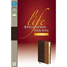 NIV, Life Application Study Bible, Large Print, Leathersoft, Brown/Tan, Indexed