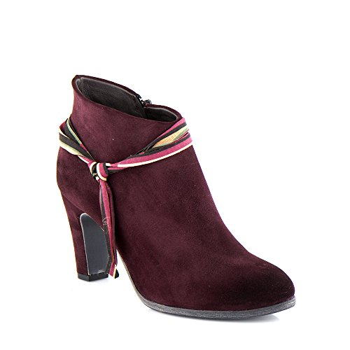 Felmini - Zapatos para Mujer - Enamorarse com Kate 9843 - Botines con tacones - Cuero Genuino - Bordeaux Bordeaux