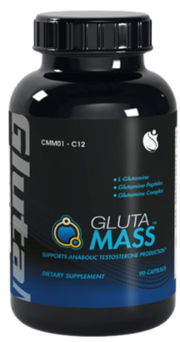 Gluta-Muscle Mass peptides de glutamine de croissance L-Glutamine 450mg 90 gélules 1 Bouteille