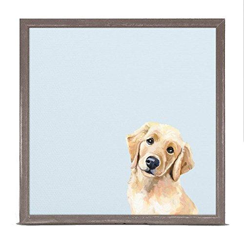 Golden Retriever Puppy Framed - Best Friend - Golden Puppy Retriever Mini Framed Canvas, Wall Art, 6