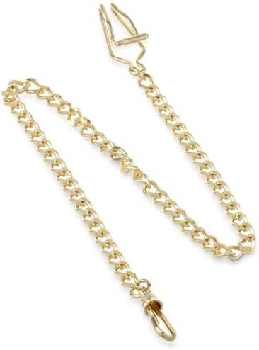Charles-Hubert, Paris 3547-G Gold-Plated Pocket Watch Chain