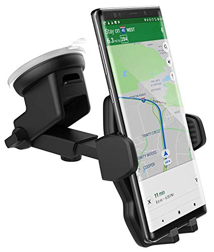 Galaxy Note 8 Car Mount, Fully Adjustable (Case Friendly) Vehicle Dock, Windshield & Dashboard Compatible (Encased)