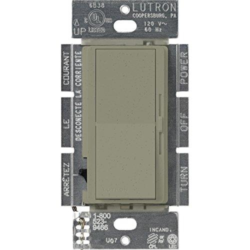 (Lutron DVSCCL-253P-GB Diva 250-watt Single Pole/3-Way CFL/LED Dimmer, Greenbriar )