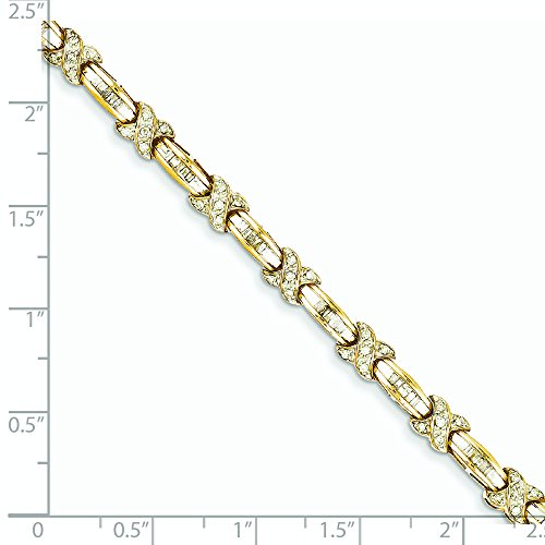 Or 14 ct Diamant x Bracelet
