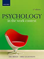 Psychology in the Work Context, 5th Edition Front Cover