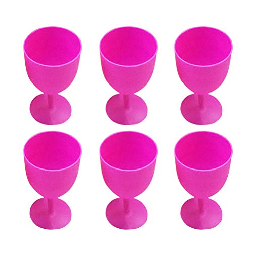 36pcs ABS Margarita Glasses Cups Cocktail Cups Colored Goblet Wavy Pattern Red Wine Glass Cups Juice Cocktail Cups Disposable Decoration for Carnivals Festivals Wedding Birthdays and Party Favors (Random Color)