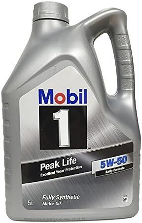 Mobil 1 Aceite de Motor nbsp;Peak Life 5W-50, 5 litros: Amazon.es ...