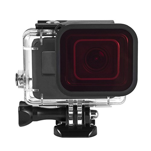 Review Kupton Red Filter, Underwater Camera Diving Waterproof Red Color Correction Filter for Kupton GoPro Hero (2018) / 6 / 5 Housing Case