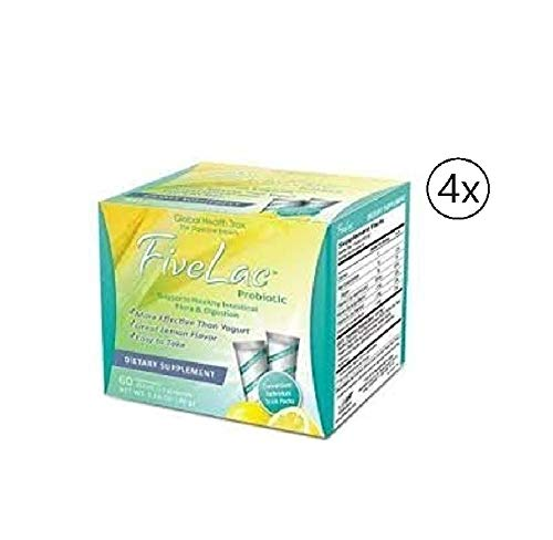 Global Health Trax Fivelac Probiotic Candida Defense Dietary Supplement (60 Pack) 4 Box