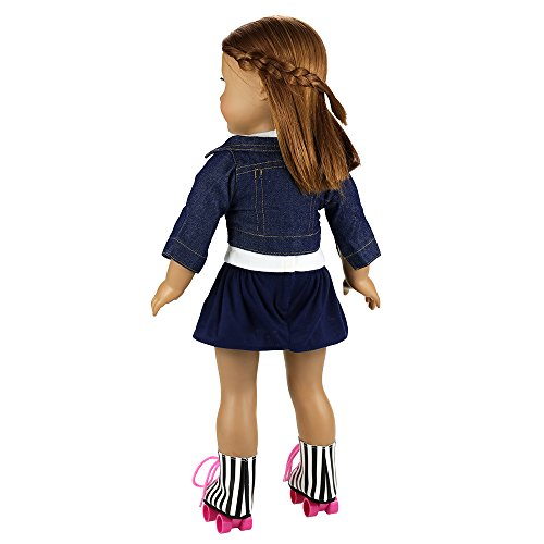 Barwa-2-Sets-Doll-Clothes-and-2-Pairs-Ice-Skates-Boots-Shoes-Fashion-Autumn-Clothing-Dress-Sets-for-18-Inch-American-Girl-Xmas-Gift