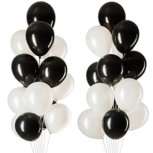 Cheap Balloons mowo black white latex balloons party decorations helium balloons 12