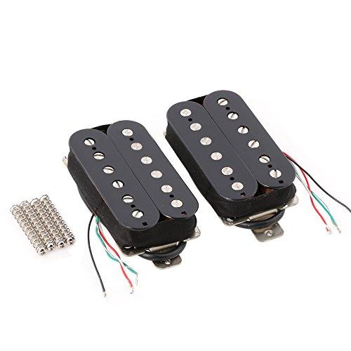 LYWS Black Humbucker Guitar Pickup Set Neck Bridge Alnico 5 Magnet Copper-Nickel Base ()
