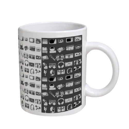 Headphone Turntable Mic Coffee Cup