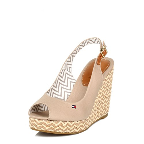 6209e6b44ed65b Tommy Hilfiger Womens Desert Sand Emery 62D Canvas Wedges - Buy Online in  KSA. Apparel products in Saudi Arabia. See Prices