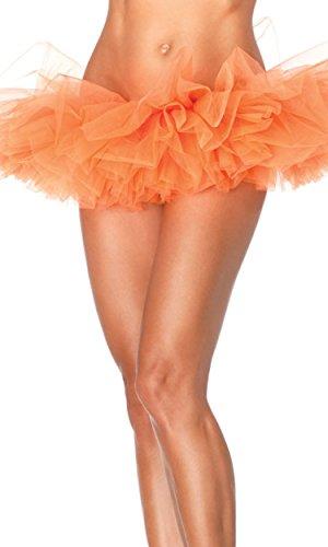 Leg Avenue Women's Organza Tutu, Neon Orange, One Size -