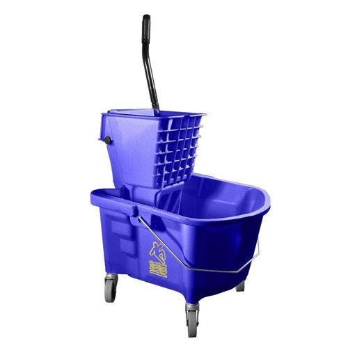 MOP BUCKET & WRINGER Heavy Duty Commercial Blue NEW 36127 by Continental Manufacturing