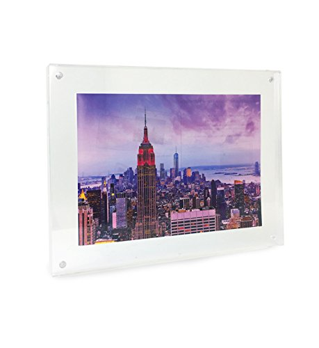 Wall Mountable Horizontal Vertical Acrylic - Isaac Jacobs Wall Mountable Acrylic Picture Frame (Horizontal and Vertical) (5x7)