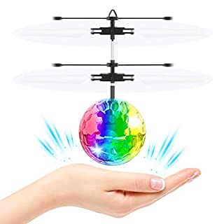 Cool Toys for 4-12 Year Old Boys Girls, Flying Ball RC Flying Toys Infrared Induction Helicopter Airplane Flashing LED Rechargeable Light Up Ball Light for 4-12 Year Old Boys Christmas Xmas Gifts