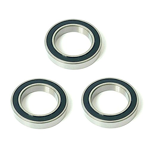 3x 62/32 2RS Rubber Sealed Deep Groove Ball Bearings - 32x65x17 mm (17mm Metric Ball Bearings)