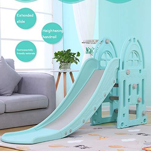 Freestanding Slides Slide Children's Indoor Slide Combination Baby Baby Slide Outdoor Children's Toys Kindergarten Long Small Toys Playground Children's Gifts (Color : Blue, Size : 185x98cm) by Freestanding Slides (Image #1)