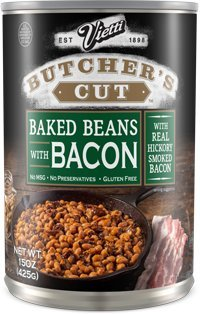Vietti Butcher's Cut Baked Beans with Bacon 15 oz (Pack of 6)