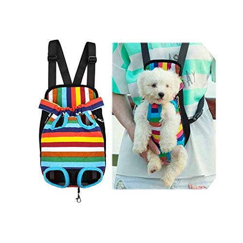 - ZZmeet Fashion Dog Carrier Bags for Small Dogs Chihuahua Double Shoulder Pet Backpack Carrier Front Pet Carrier Bag Outdoor Pet Product,mesh Orange,XL