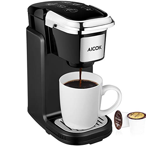 AICOK Single Cup Coffee Maker 800W, Black