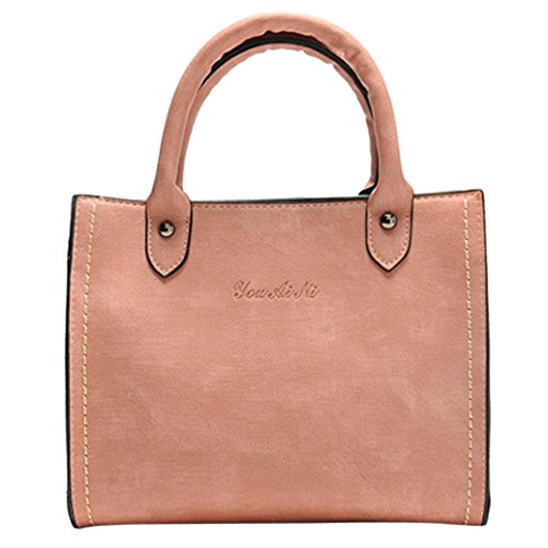 (Hot Sale! Clearance! Women Bag,Todaies Women's Fashion Leather Shoulder Bags with Corss Bag&Handbag (24cm(L)24(H)10cm(W), Pink))