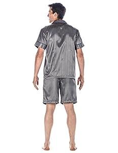 Noble Mount Mens Premium Satin Short Pajama Set