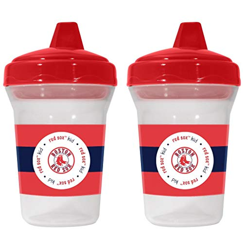 (Boston Red Sox Spill-Proof Sippy Cups 2 Pack BPA Free)