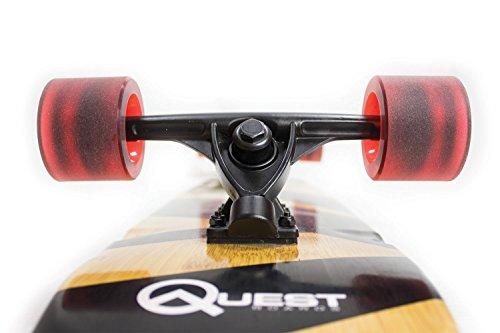 "Quest QT-NSC44C The Super Cruiser The Original Artisan Bamboo and Maple 44"" Longboard Skateboard"