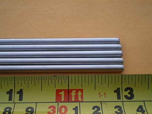 Glob 20 PCS. Stainless Steel Round Rod, 5/32'' (.156'') (4MM.) X 13'' Long