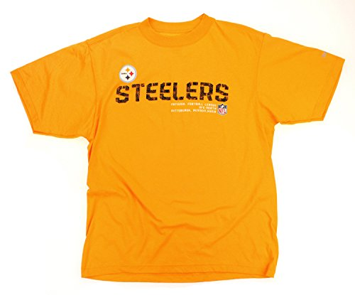 (Pittsburgh Steelers NFL Men's AFC North Short Sleeve Football Tee - Yellow (Small))