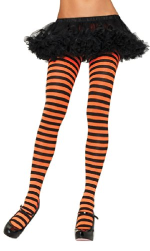 [Nylon Striped Tights Hosiery - One Size - Dress Size 6-12] (Twin Halloween Costumes For Sale)