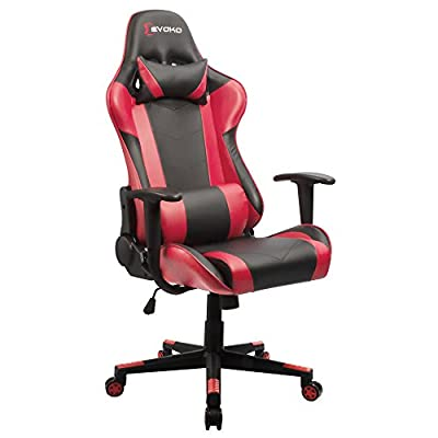 Devoko Ergonomic Gaming Chair Racing Style Adjustable Height High-Back PC Computer Chair with Headrest and Lumbar Massage Support Executive Office Chair by Devoko