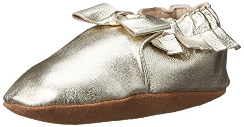 Robeez Bows - Robeez Maggie Moccasin Crib Shoe (Infant), Gold, 0-6 Months M US Infant