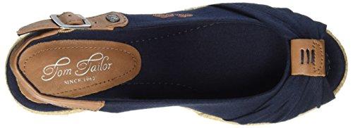 Tom Tailor 2790901, Sandalias con Correa de Tobillo para Mujer azul (navy)