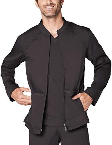 Zip Smock - Adar Responsive Scrubs for Men - Zip Front Scrub Jacket - R6206 - Pewter - XL