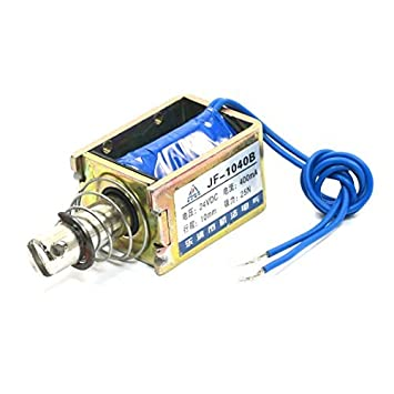 DC24V 400mA Tipo 25N / 10mm Push Pull Dos Wired electroimán del solenoide