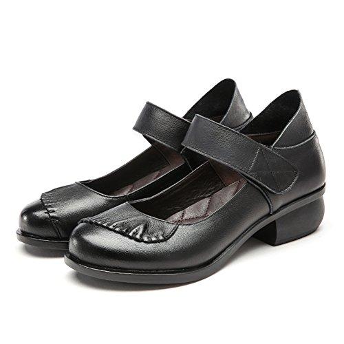 En la moda con zapatos femeninos de la boca baja/ Primavera áspero con los zapatos ronda/Zapatos de cuero genuino C