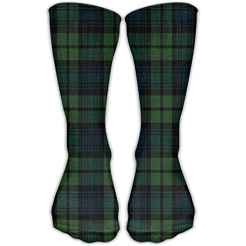 Womens Scottish Tartan Plaid Socks Champion Dress Athletic Work Long Knee High Stockings Tights