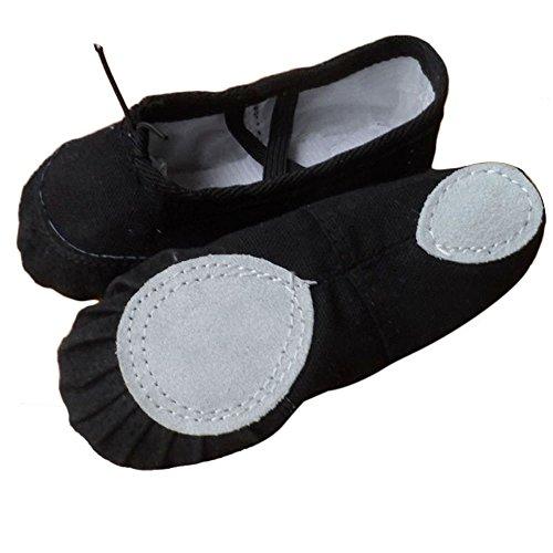 Canvas Dance Pointe Black Gymnastics 7 Shoes 5 VESNIBA Ballet Black Slippers Adult 7qxwBx1t5