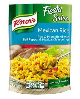 Knorr, Rice Sides, Flavor, 5.4oz Pouch (Pack of 6) (Choose Flavors Below) (Fiesta Sides Mexican Rice)