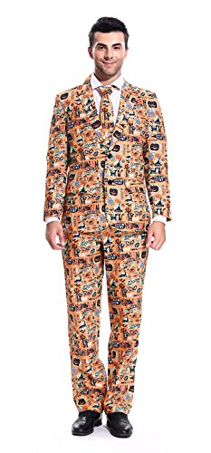 More 2016 Designs! Mens Halloween Suit Party Funny Ugly Novelty Xmas Jacket Costume by YOU LOOK UGLY TODAYCOMIC-X Large